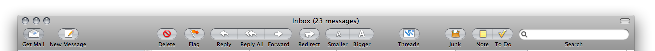apple mail toolbar